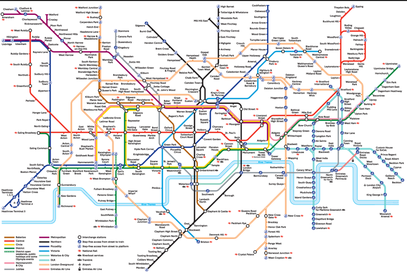 UK underground map